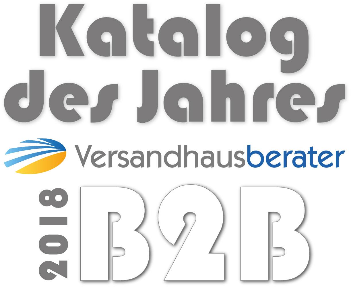 Logo Katalog des Jahres 2018 B2B