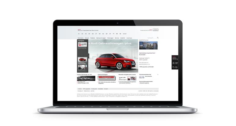 Audi H�ndlerplattform konzipiert von Unic