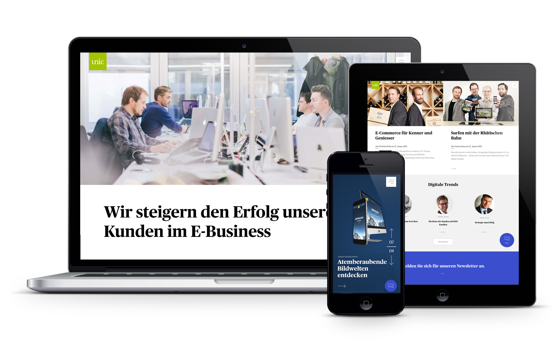 Website Relaunch von Unic