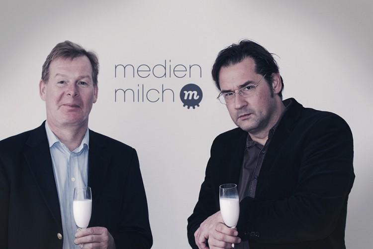 Die medienmilch.de Macher: Andreas Jud (links) und Oliver Hein-Behrens (rechts)