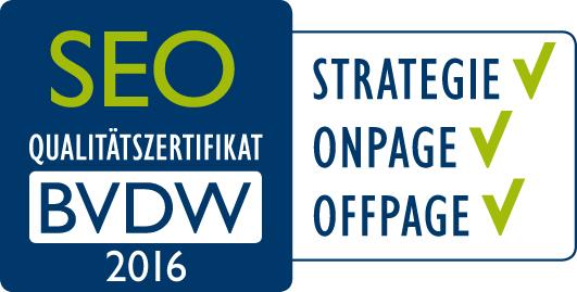 SEO-Qualitätszertifikat BVDW