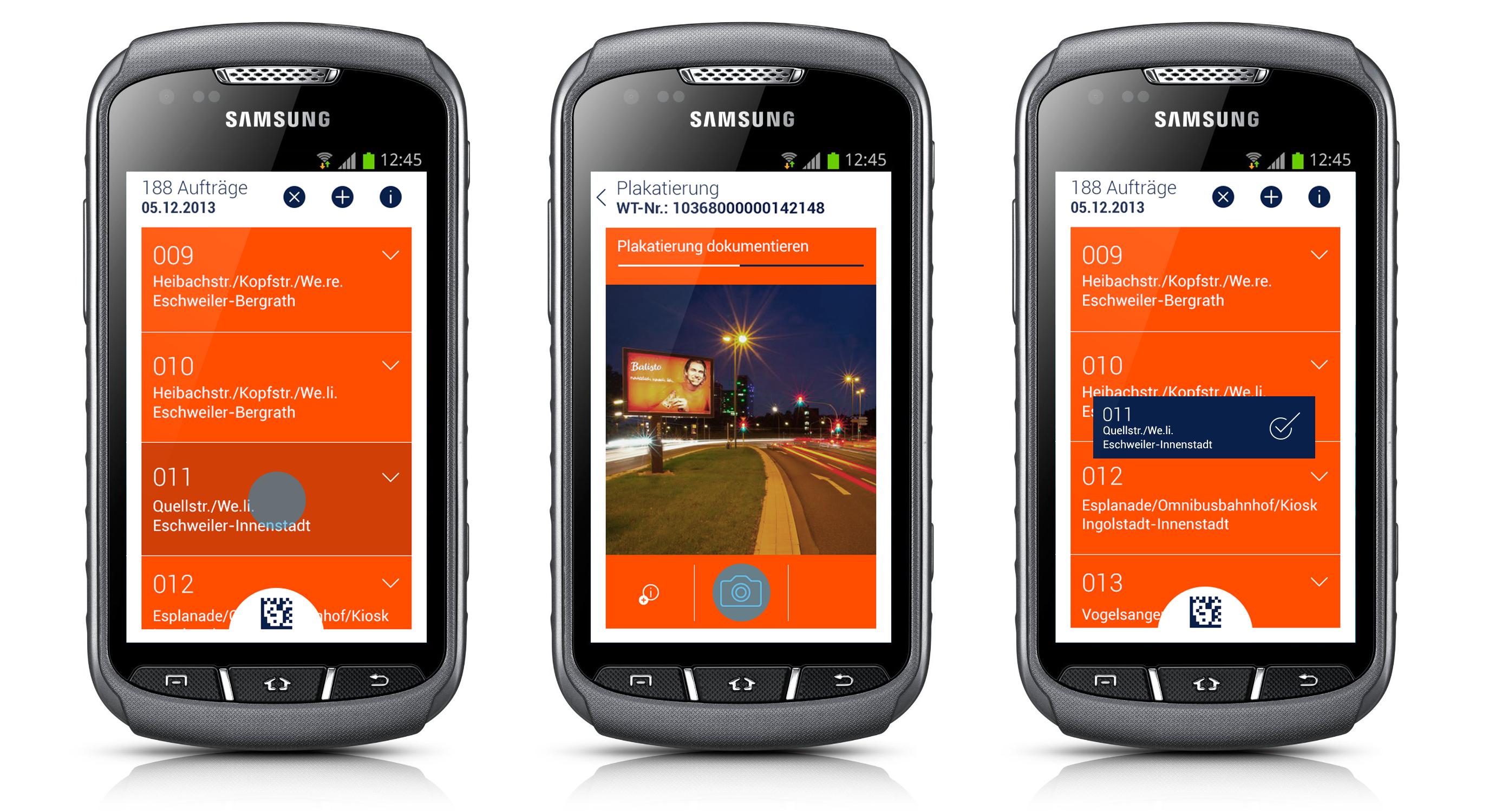 Ströer WPC-App von denkwerk in der Anwendung