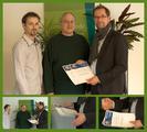 Übergabe der hybris-Zertifikate durch CEO Axel Helbig