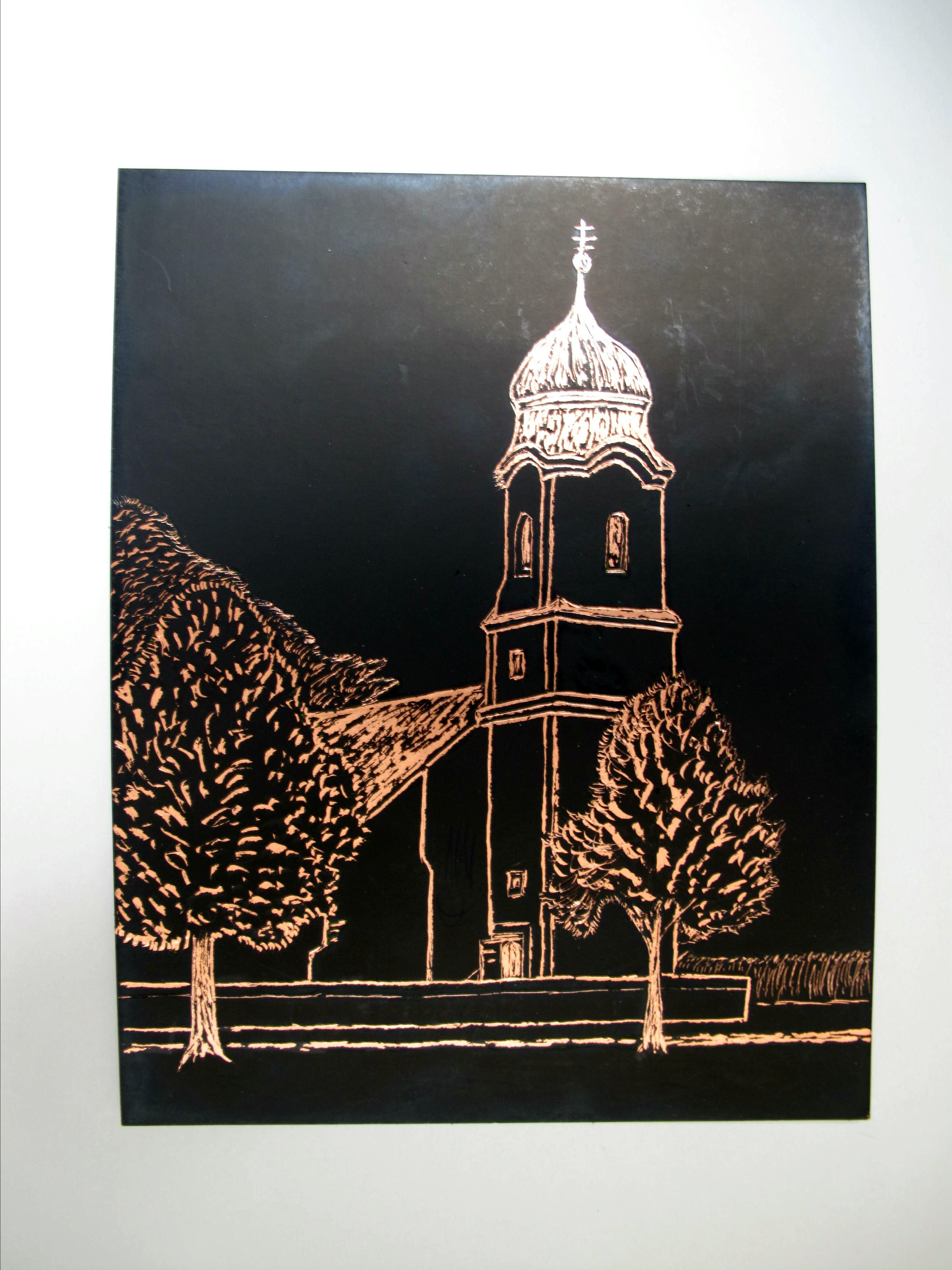 St.Leonhard; Engraving Art von Joe Haneder