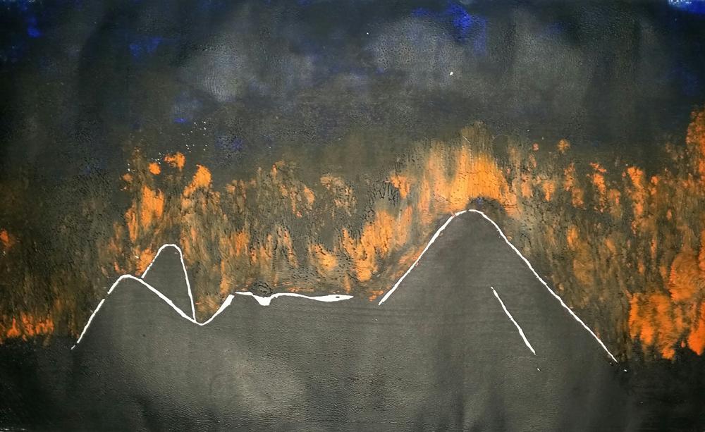 Liegender Akt, Holzschnitt von Joachim Graf