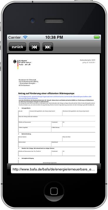 Fördermittel-App: Antragsformular