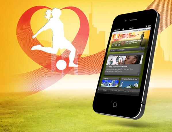 WM 2011 Mobile Webseite