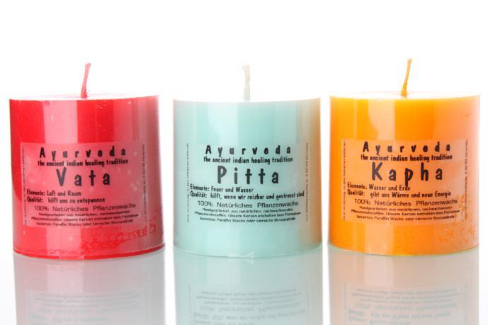 Hochwertige ayurvedische Kerzen aus 100 Prozent natürlichen Pflanzenwachs