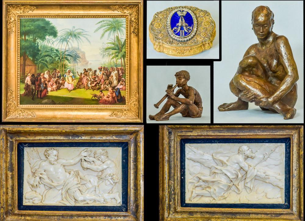 """""""Nachlassversteigerung von Bronzefiguren, Elfenbeinschnitzereien, Tabatieren, Gemälde und Miniaturen"""""""