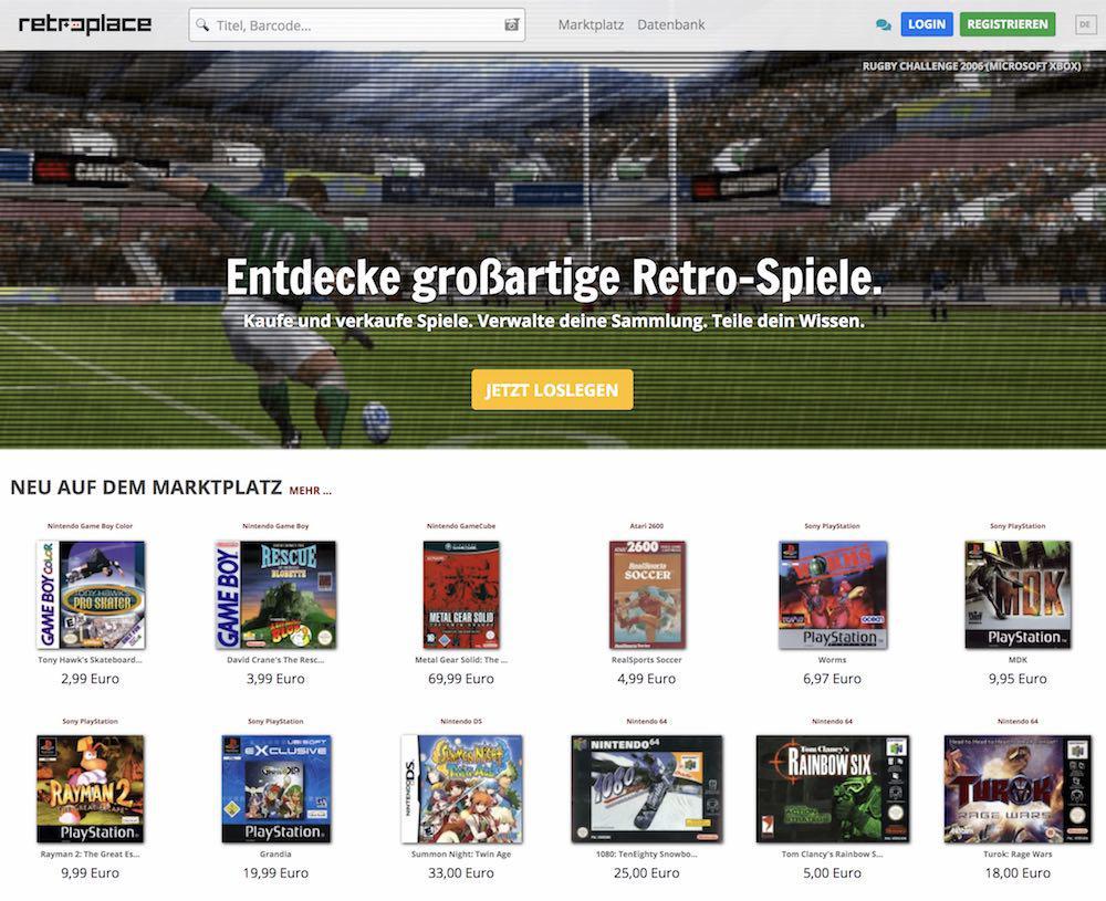 Marktplatz nur für Retrogames: retroplace.com