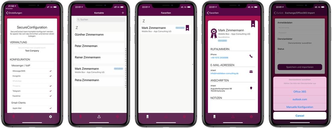 SecureContact X Business - datenschutzkonforme, sichere Nutzung von WhatsApp sowohl im privaten als auch im geschäftlichen Umfeld unter iOS