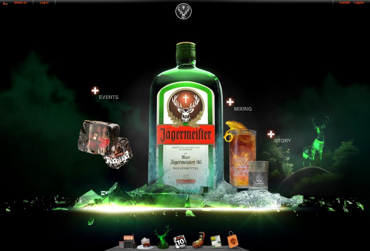 Homepage der neuen jagermeister.com
