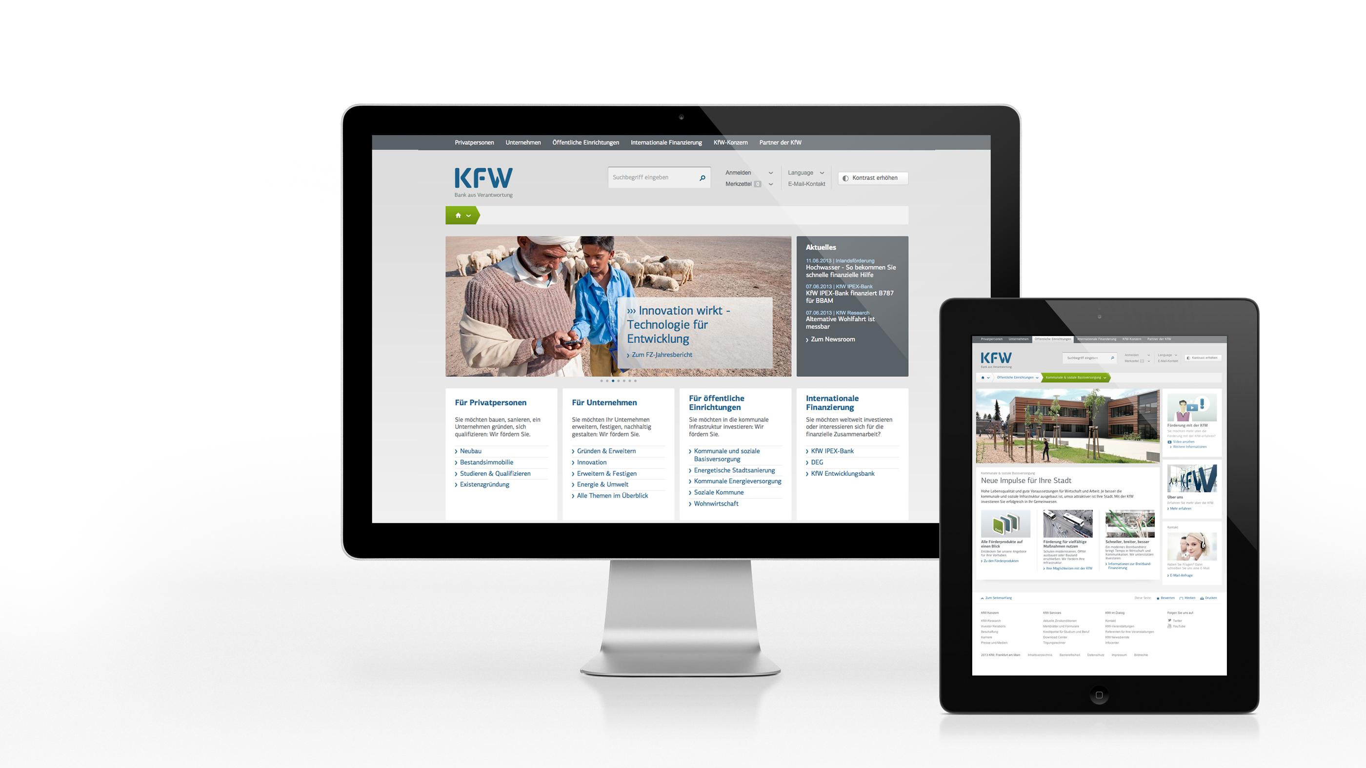 Die neue kfw.de überzeugt mit einfacher, individueller Nutzerführung