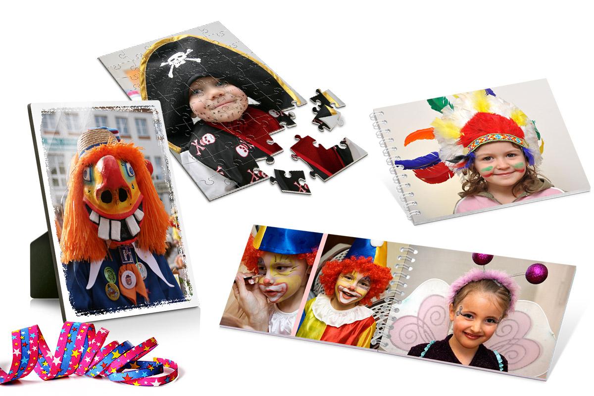 Faschingsbilder perfekt in Szene setzen - mit Fotoprodukten von  ifolor