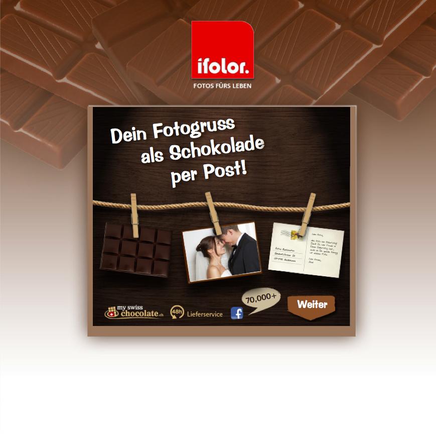 Süße Fotogrüße von ifolor und mySwissChocolate