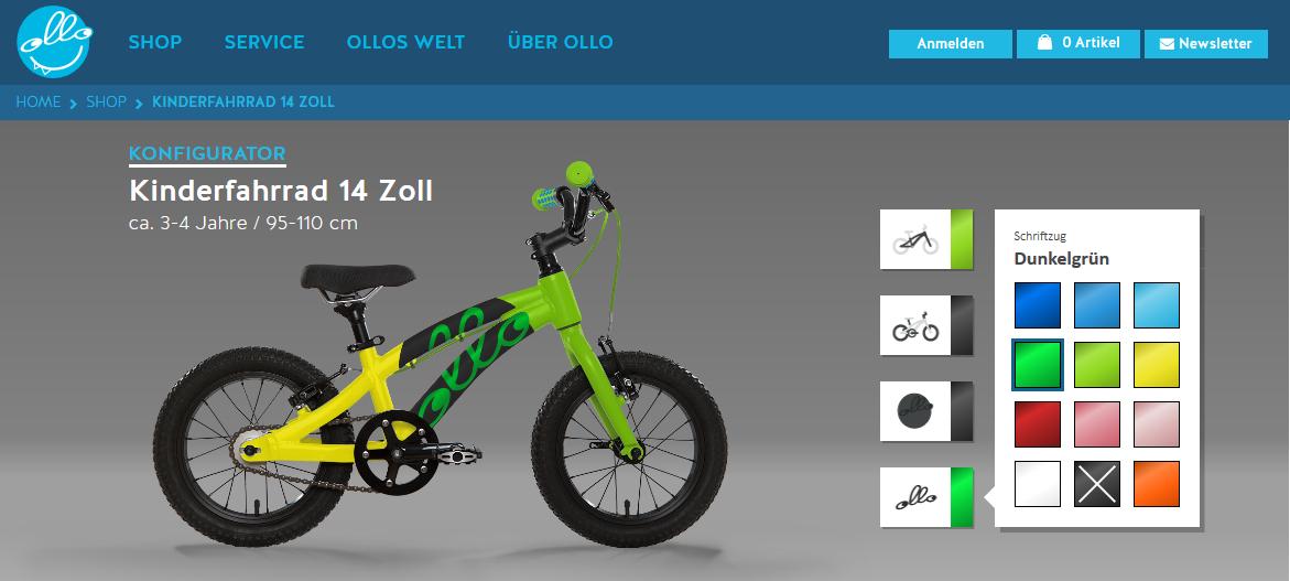 OLLO Produktkonfigurator